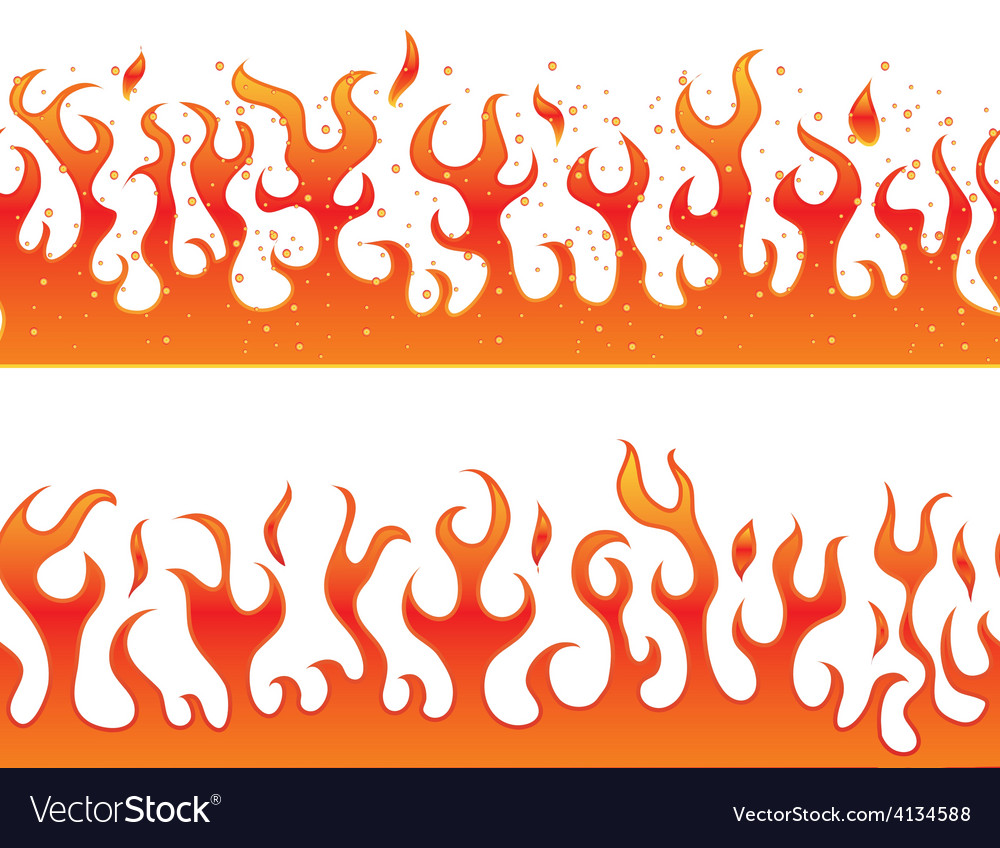 Flames on a white background - continuous curb vector | Price: 1 Credit (USD $1)