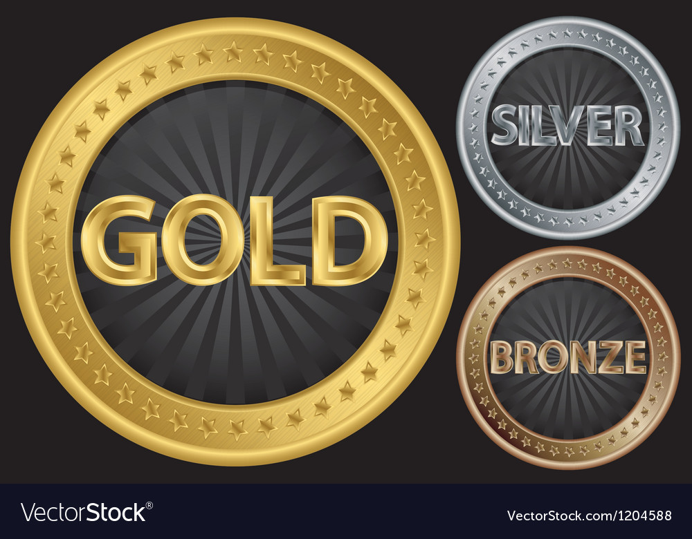 Golden silver and bronze empty coins vector | Price: 1 Credit (USD $1)