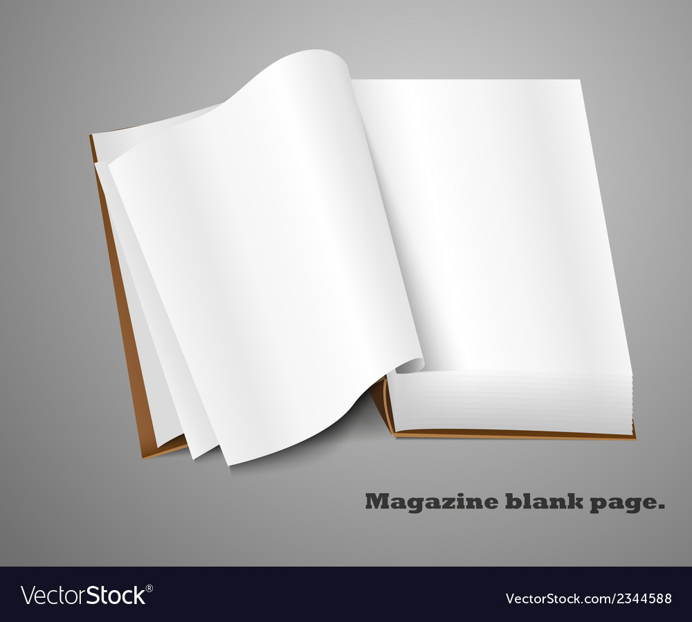 Realistic magazine vector | Price: 1 Credit (USD $1)