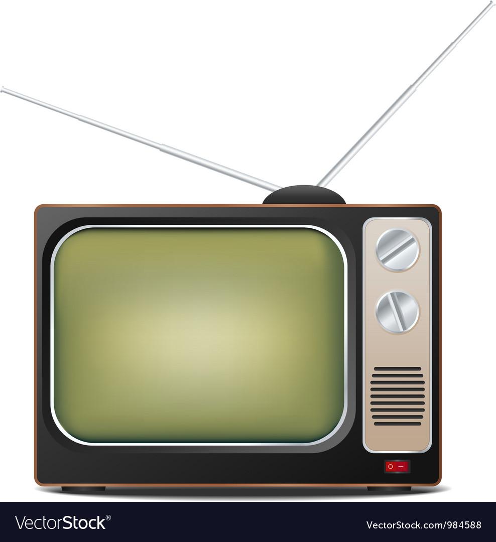Retro tv set vector | Price: 3 Credit (USD $3)