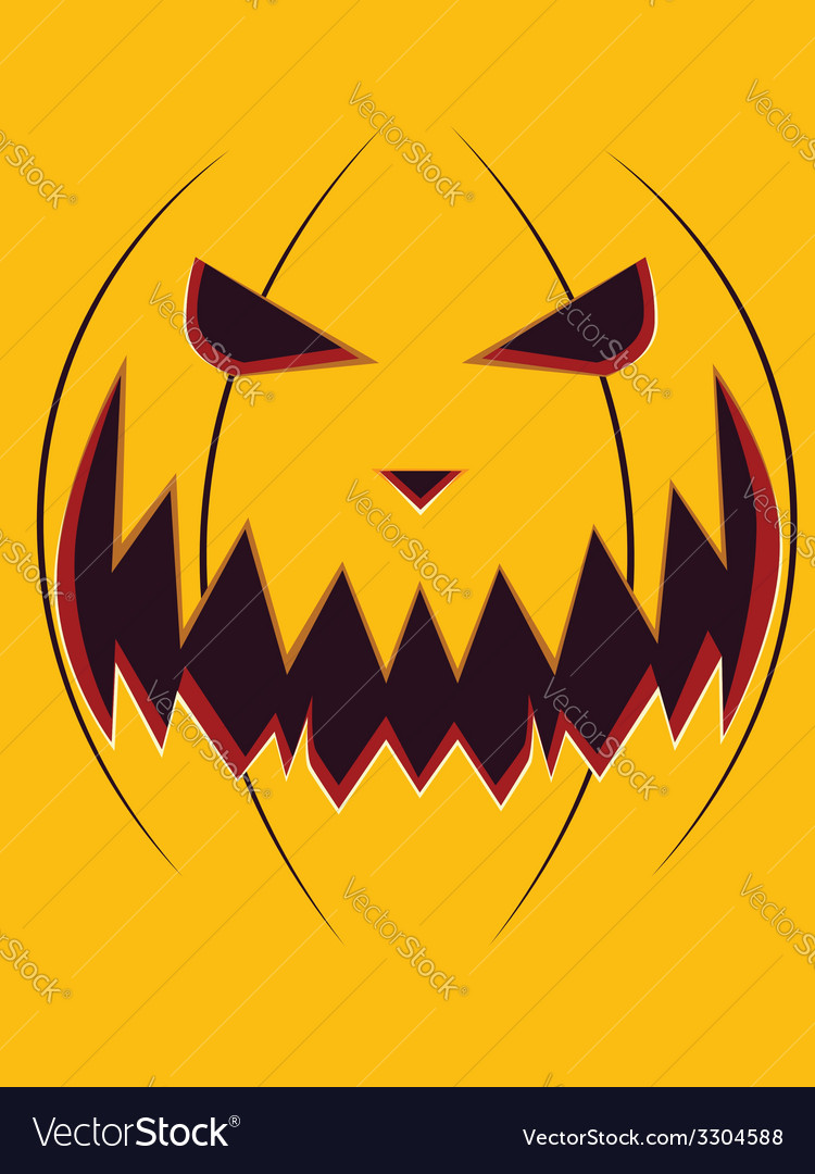 Scary pumpkin face3 vector | Price: 1 Credit (USD $1)