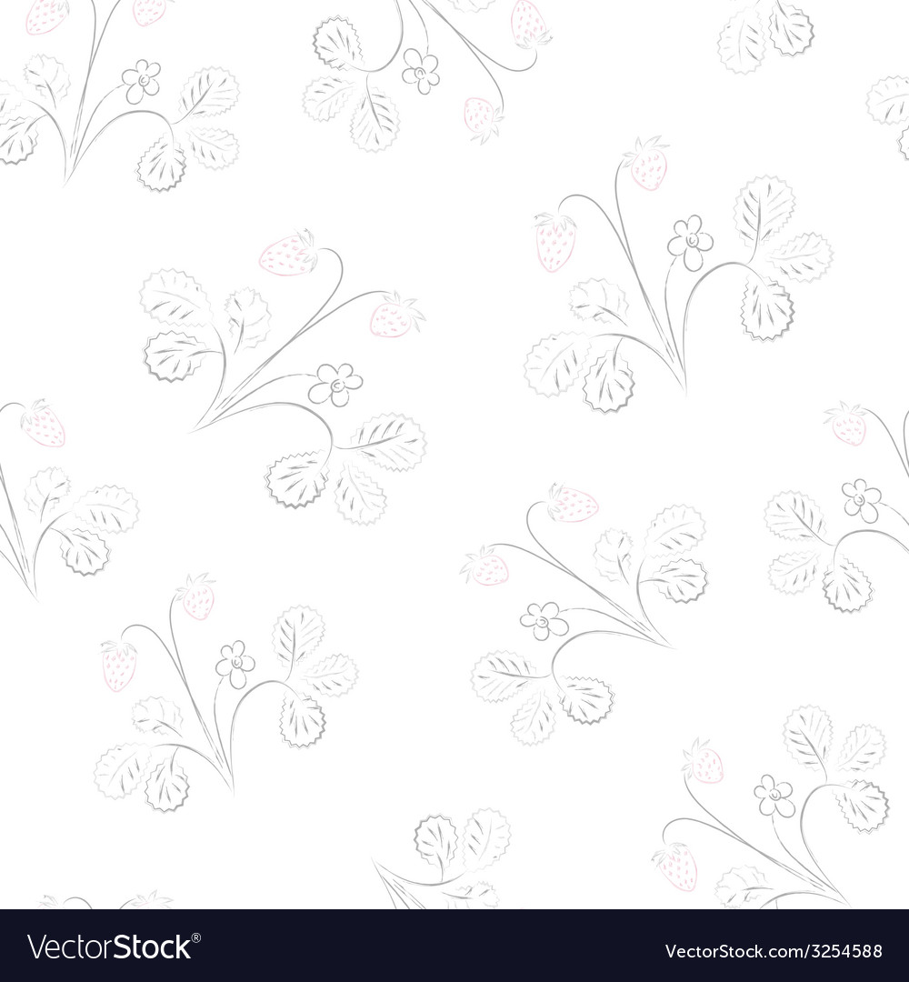 Subtle strawberry seamless pattern vector | Price: 1 Credit (USD $1)