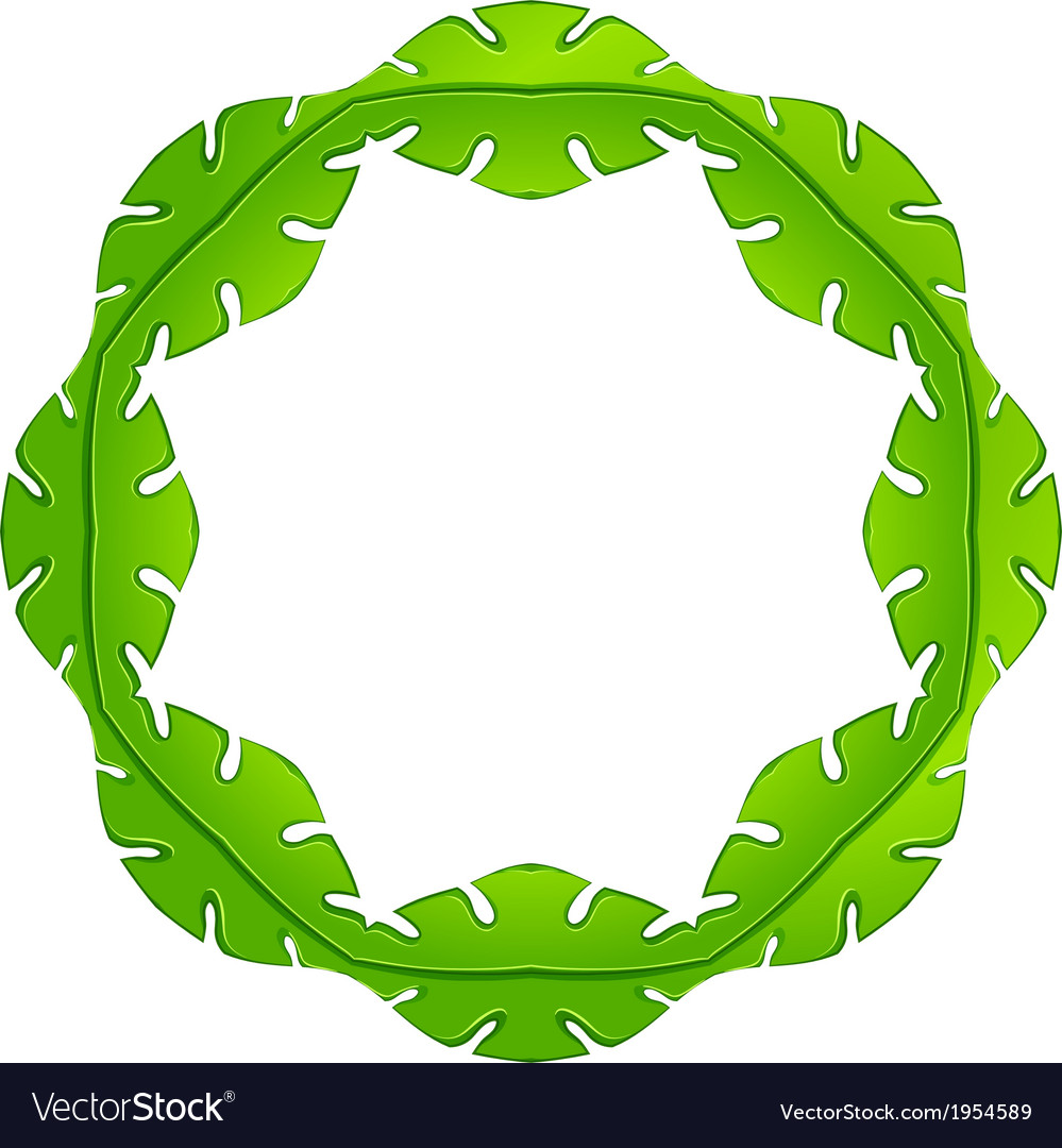 A leafy frame vector | Price: 1 Credit (USD $1)