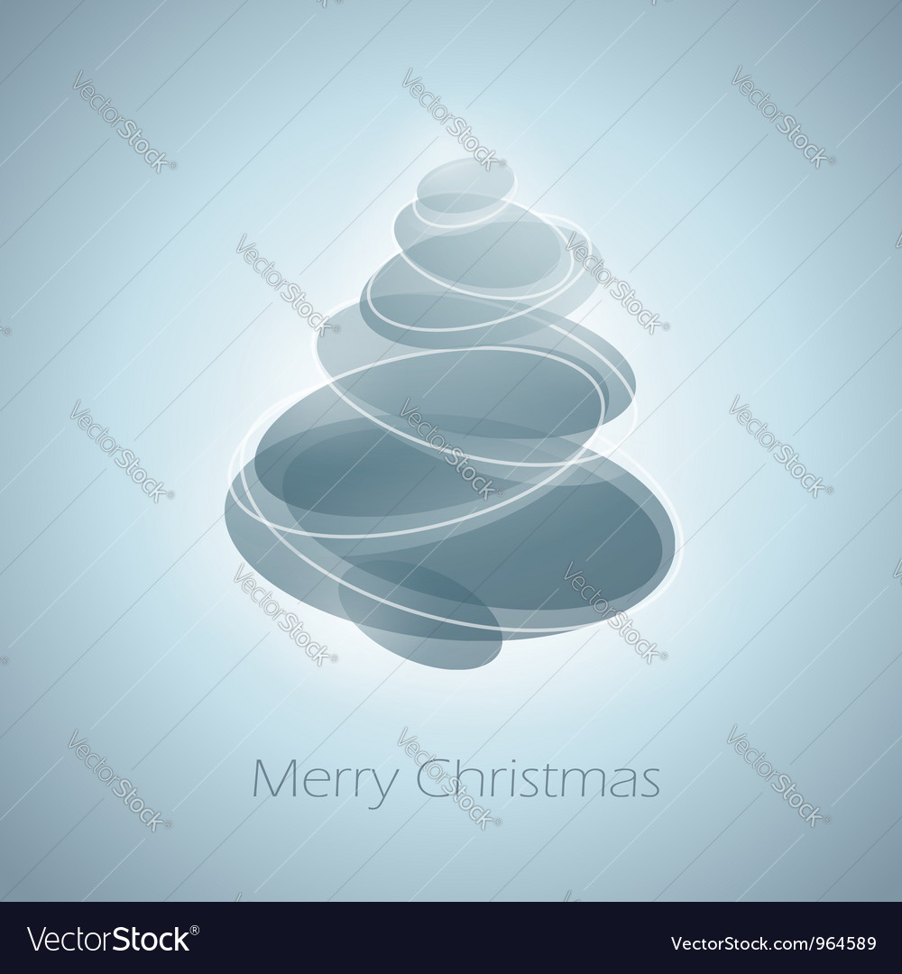Abstract shiny christmas tree in light blue vector | Price: 1 Credit (USD $1)