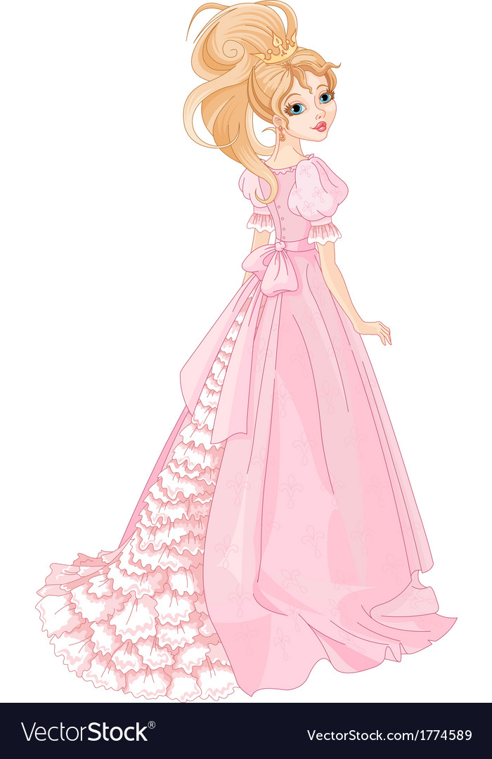 Beautiful princess vector | Price: 3 Credit (USD $3)
