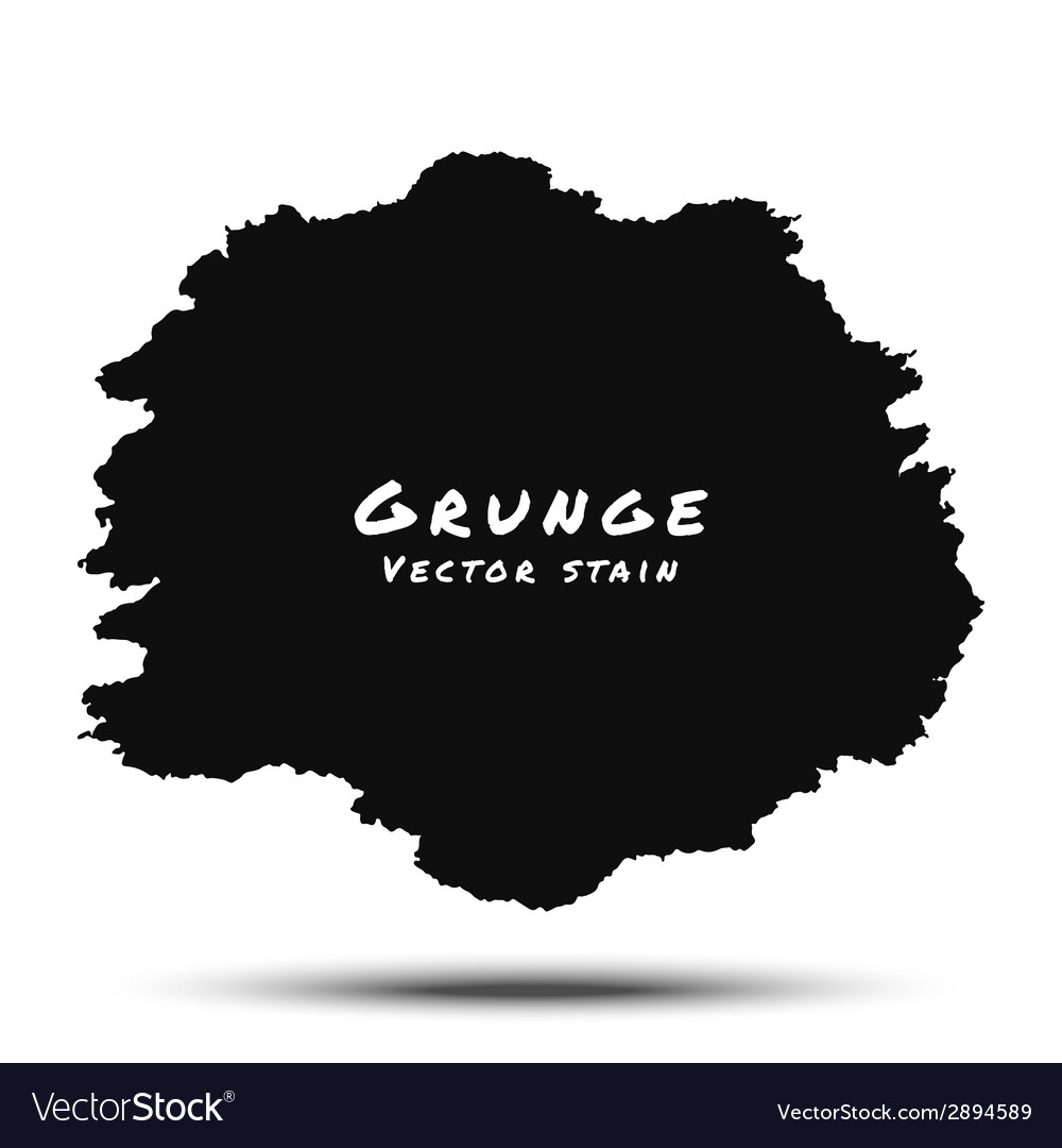 Black watercolor grunge splatter vector | Price: 1 Credit (USD $1)