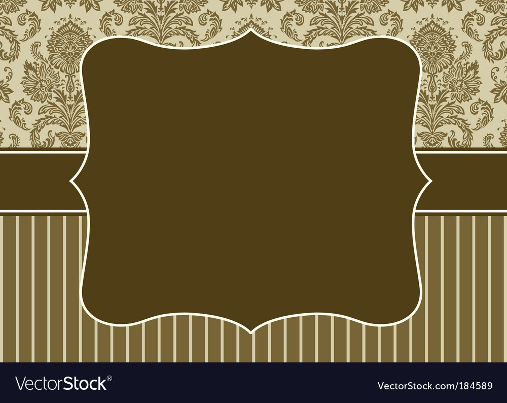 Damask pattern and border vector   Price: 1 Credit (USD $1)