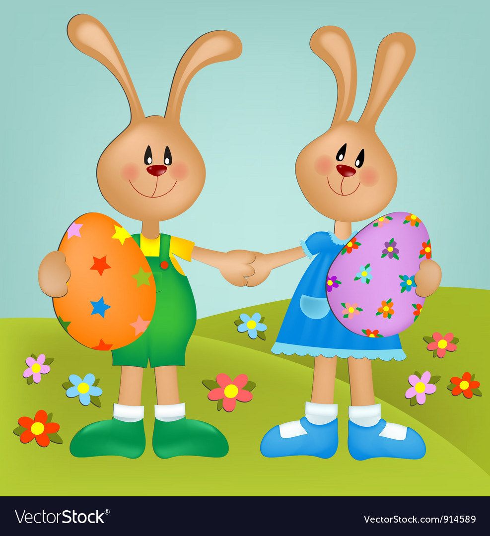 Easter greetings card vector | Price: 1 Credit (USD $1)
