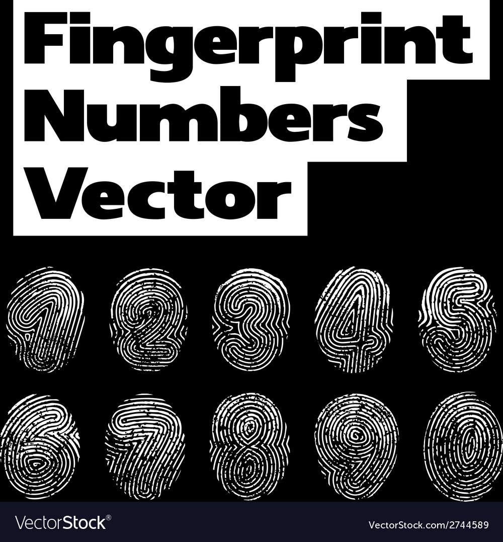 Fingerprint numbers vector | Price: 1 Credit (USD $1)