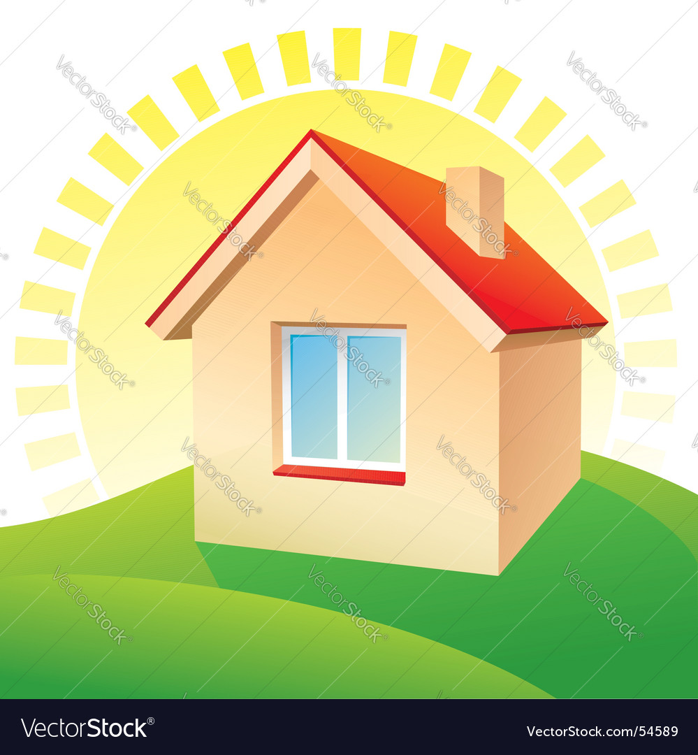 Landscape and house vector | Price: 1 Credit (USD $1)
