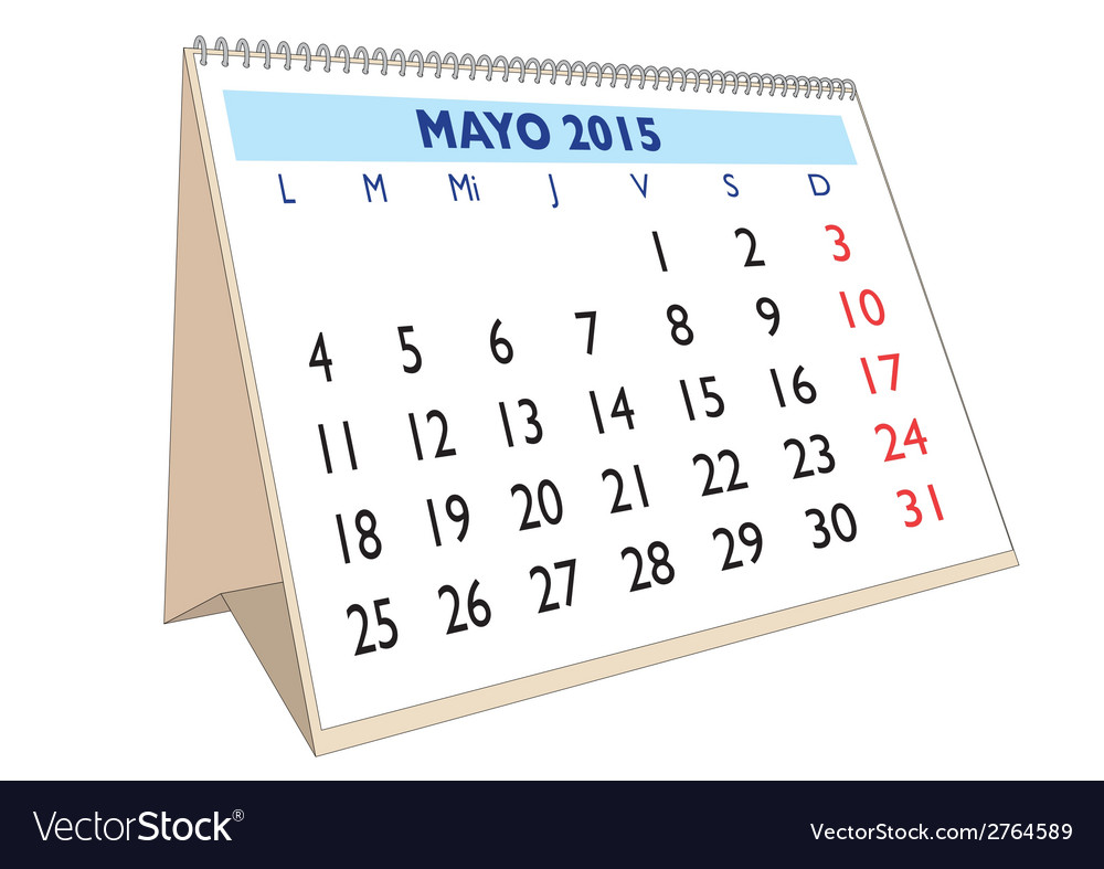 Mayo 2015 vector | Price: 1 Credit (USD $1)