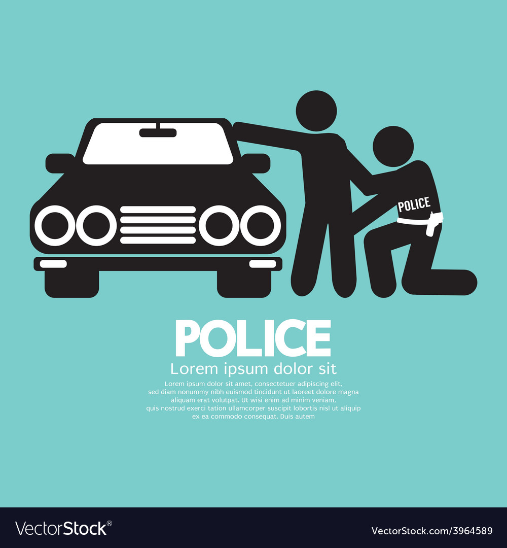 Police with the law offender vector | Price: 1 Credit (USD $1)