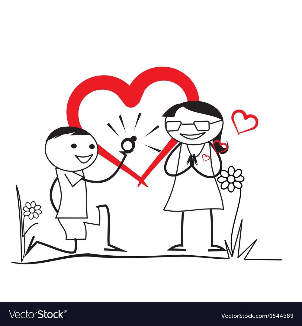 Wedding proposal vector | Price: 1 Credit (USD $1)