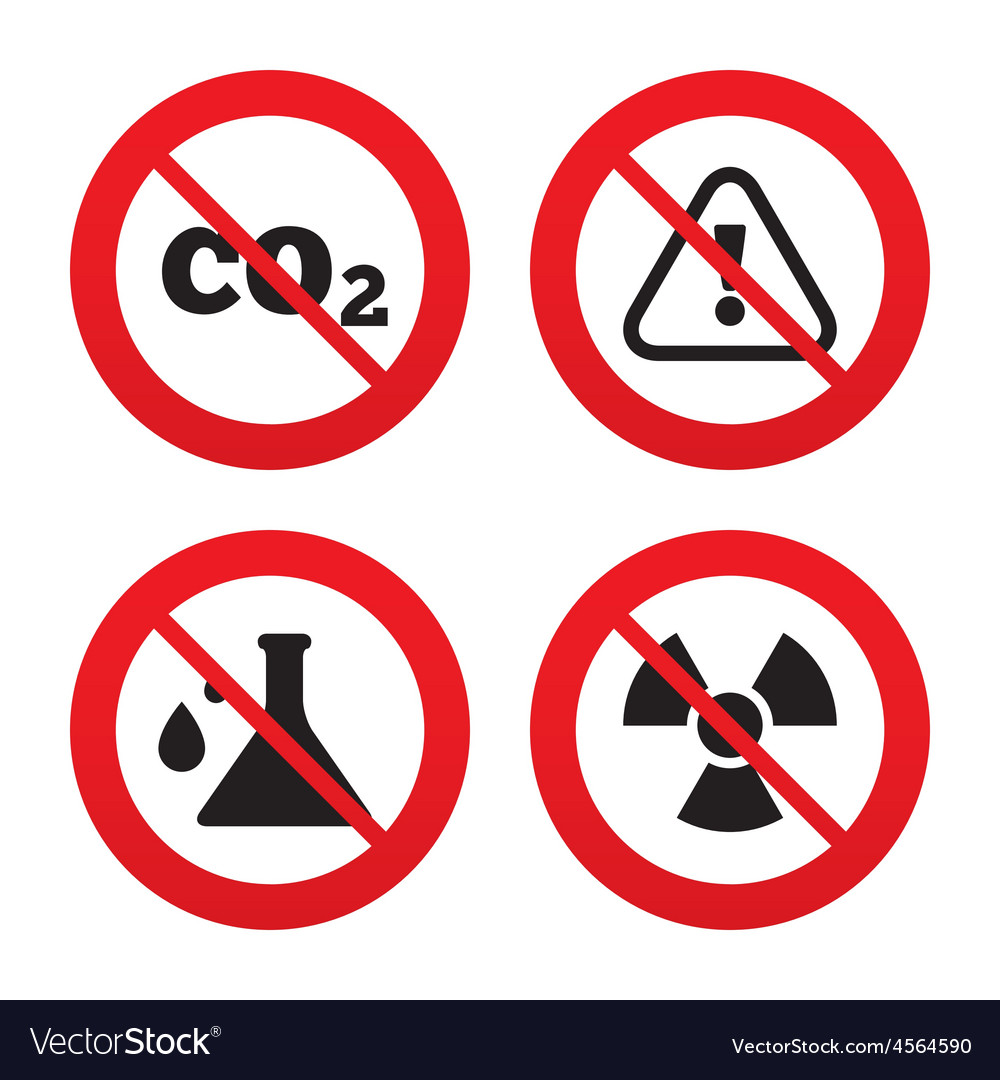 Attention radiation icons chemistry flask vector | Price: 1 Credit (USD $1)