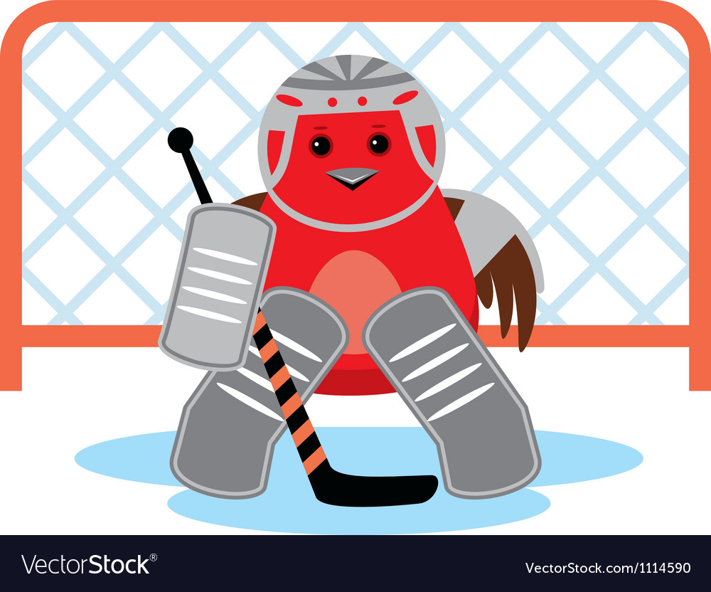 Bird is a hockey goalkeeper vector | Price: 1 Credit (USD $1)