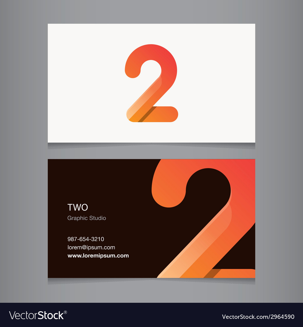 Business card number 2 vector | Price: 1 Credit (USD $1)