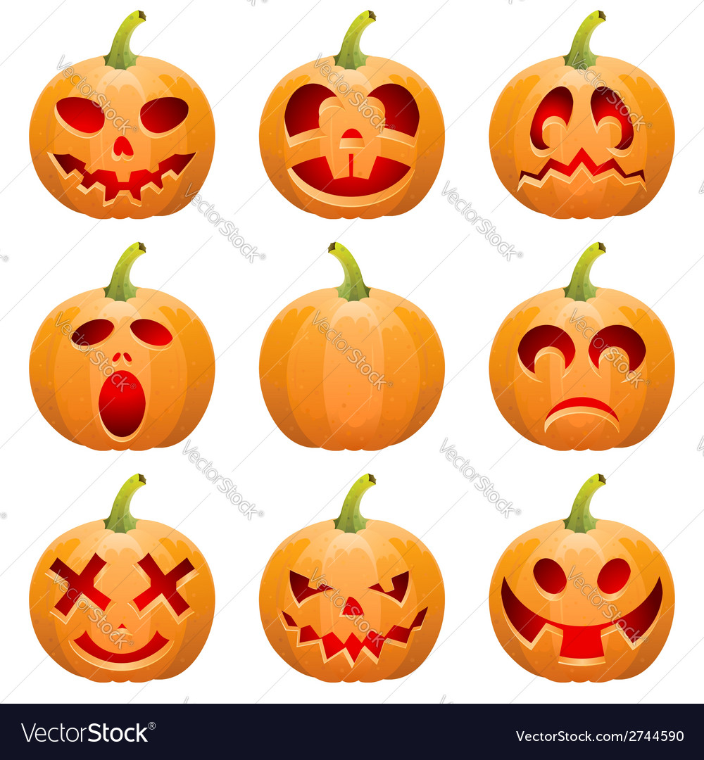 Collect pumpkin for halloween vector | Price: 1 Credit (USD $1)