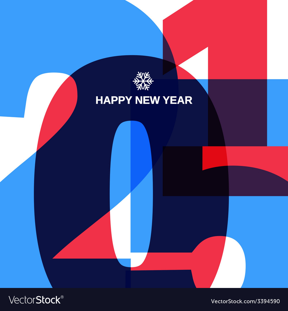 Happy new year cover design vector | Price: 1 Credit (USD $1)