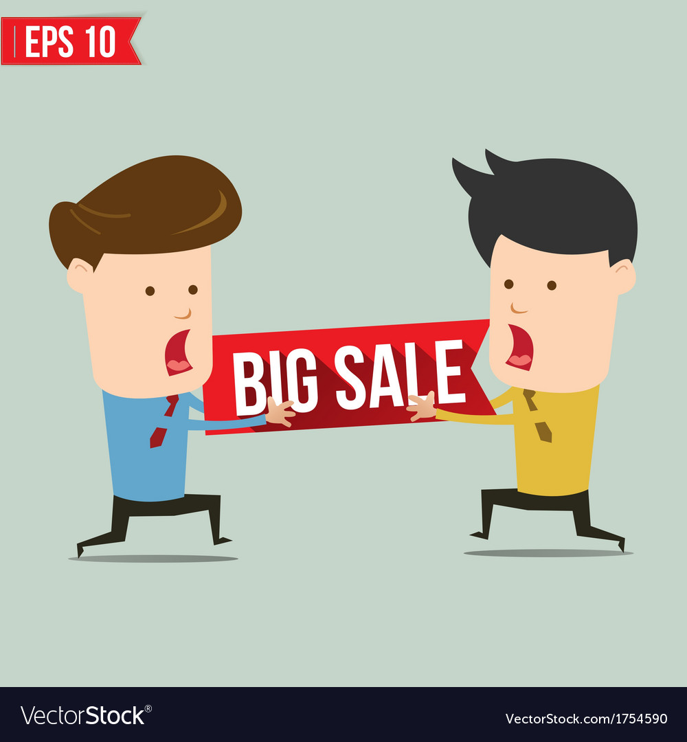 Man snatch bigh sale tag - - eps10 vector | Price: 1 Credit (USD $1)