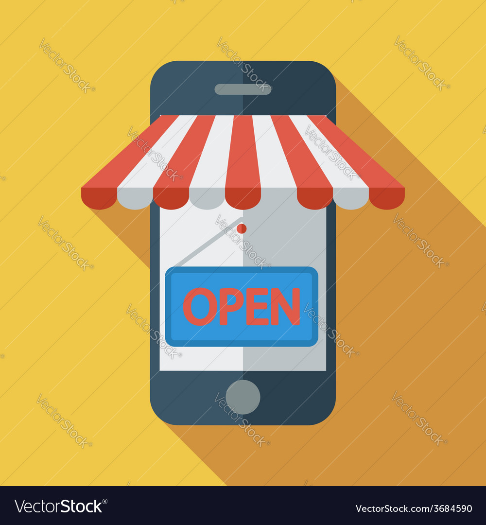Mobile store vector | Price: 1 Credit (USD $1)