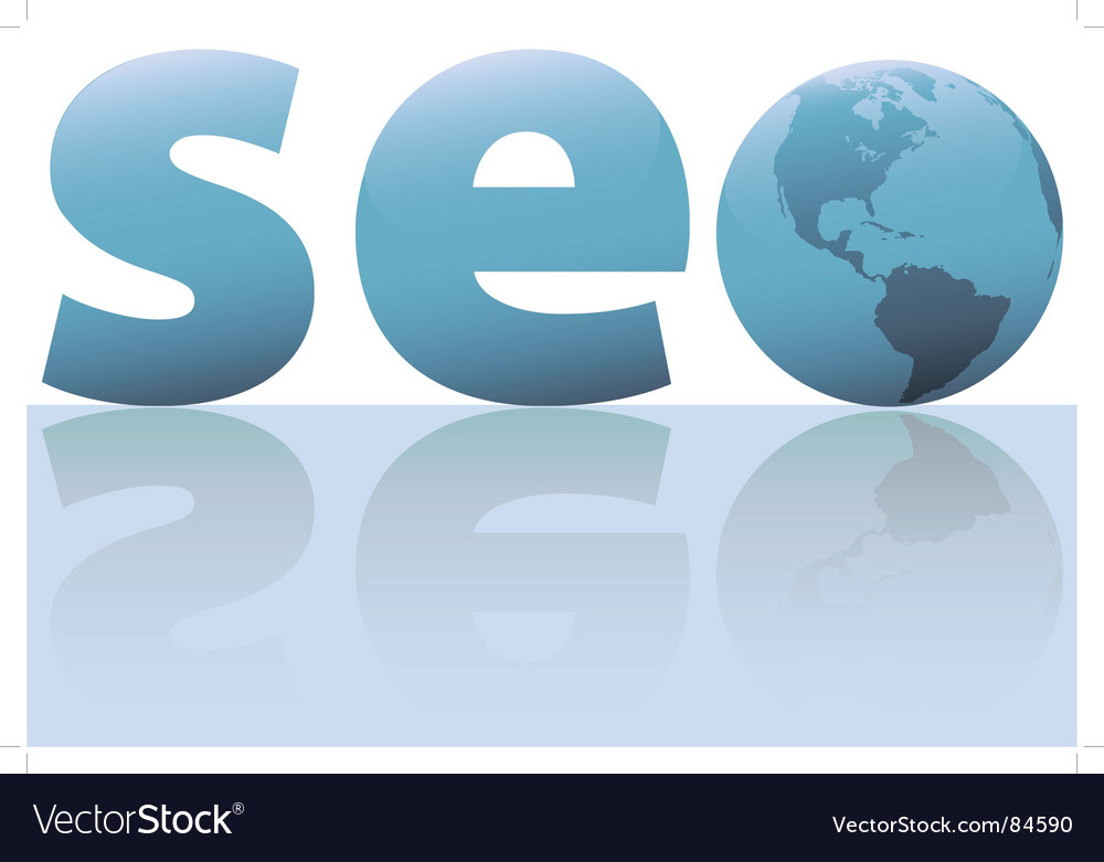Seo search engine symbol vector | Price: 1 Credit (USD $1)