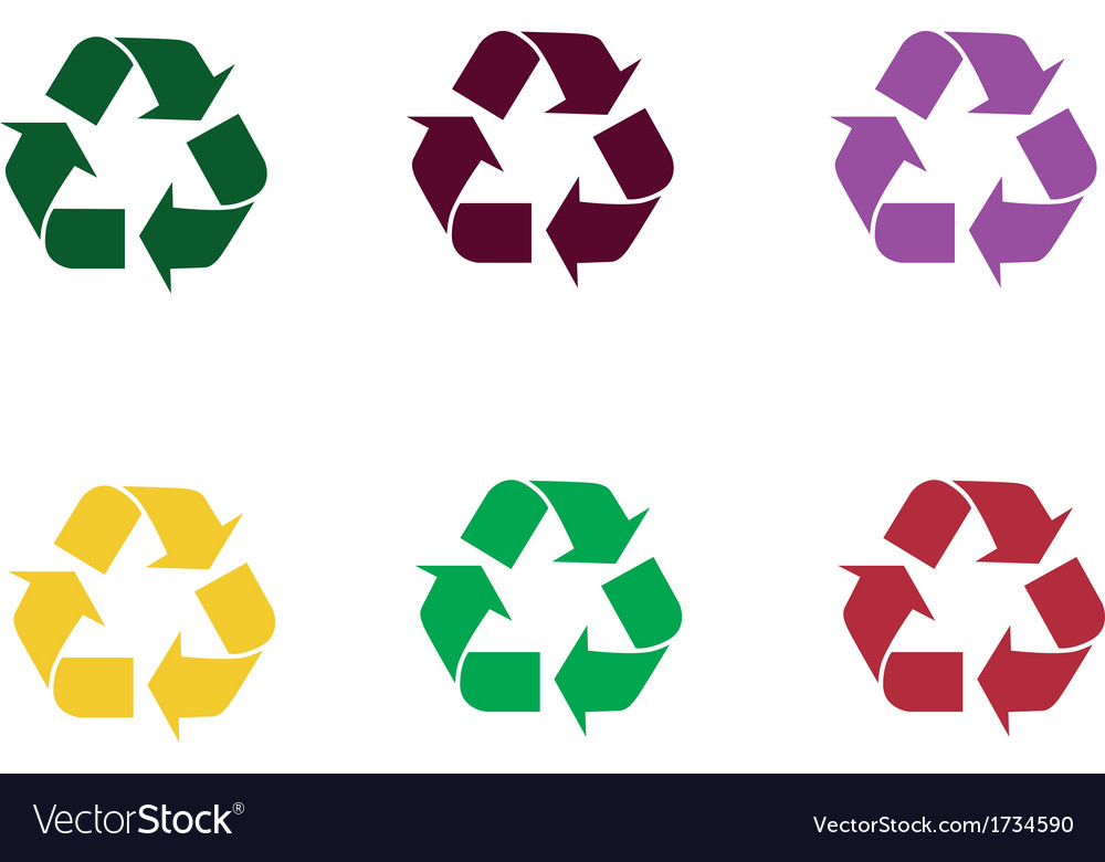 Set of recycle sign vector | Price: 1 Credit (USD $1)