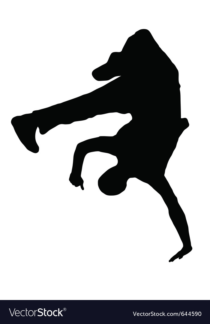 Streetdancer silhouette vector | Price: 1 Credit (USD $1)