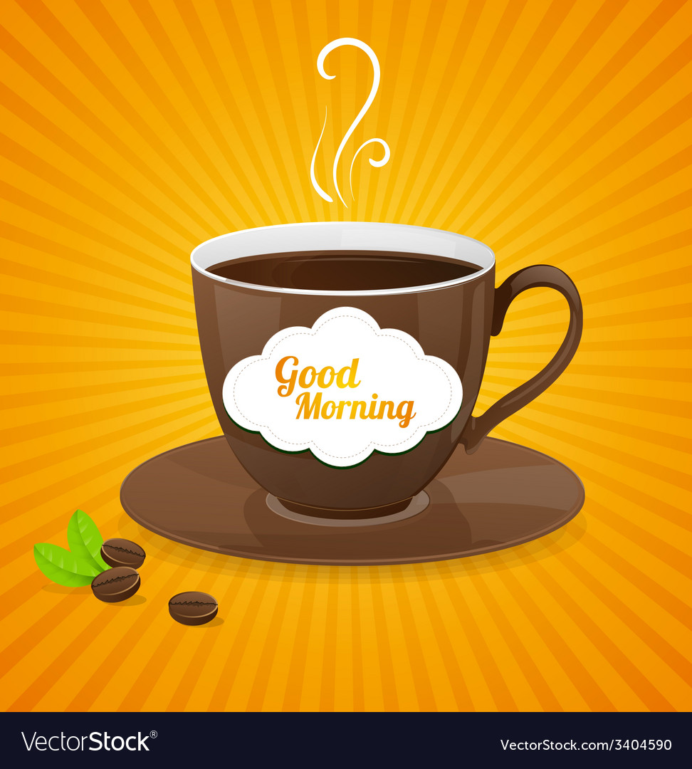 White coffee cup and text cloud vector | Price: 1 Credit (USD $1)