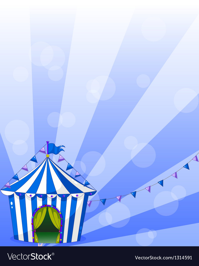 A blue circus tent vector | Price: 1 Credit (USD $1)