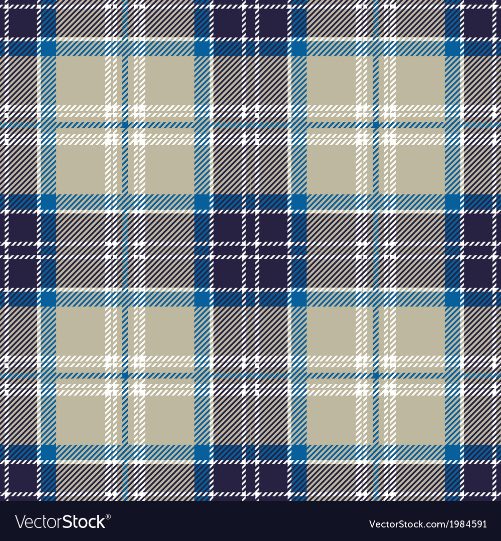 Blue seamless tartan plaid patter vector | Price: 1 Credit (USD $1)
