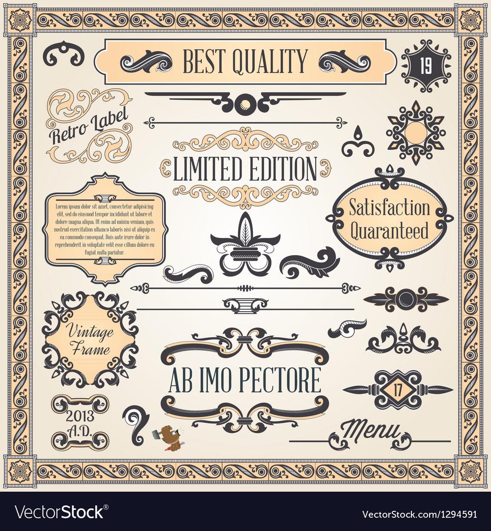 Calligraphic designcs8 vector | Price: 1 Credit (USD $1)