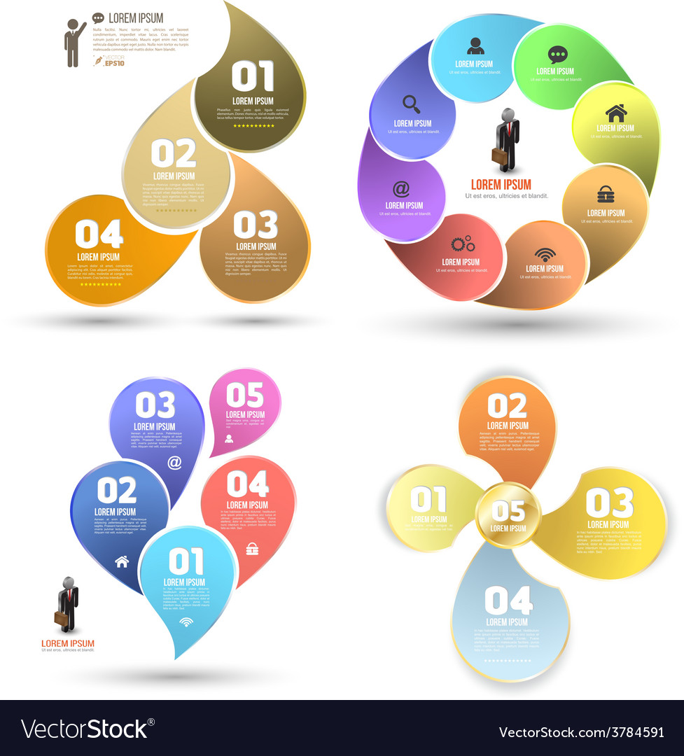 Design clean number banners template graphic set vector | Price: 1 Credit (USD $1)