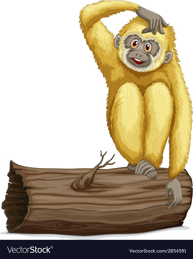 Gibbon on log vector | Price: 1 Credit (USD $1)