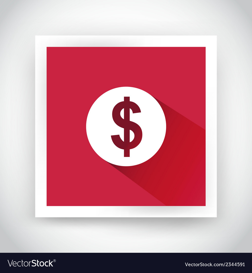 Icon of dollar for web and mobile applications vector | Price: 1 Credit (USD $1)
