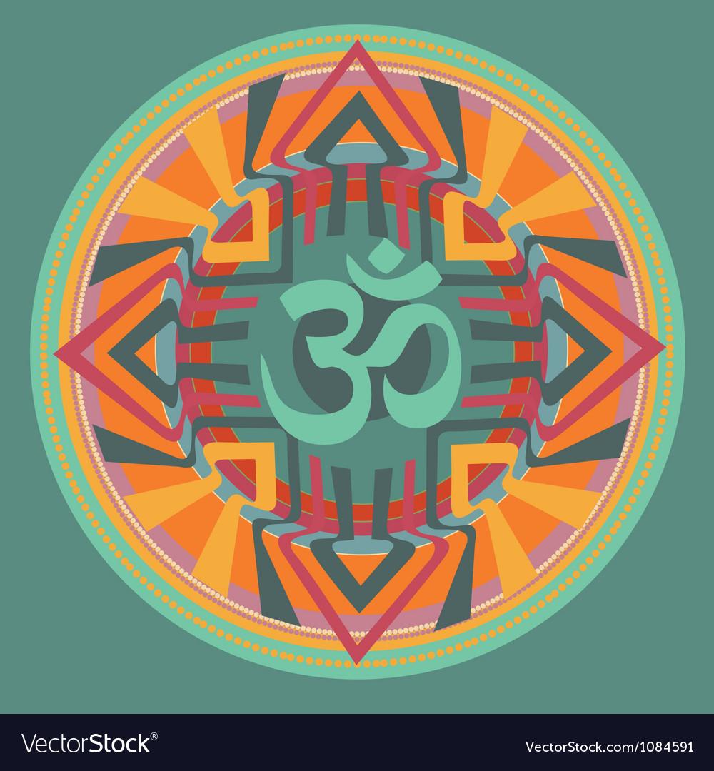 Om mandala vector | Price: 1 Credit (USD $1)