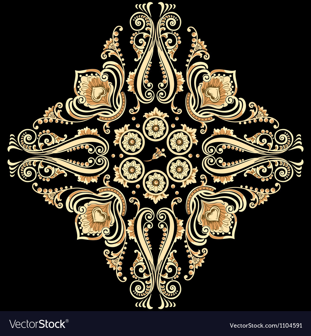 Ornamental floral motif vector | Price: 1 Credit (USD $1)