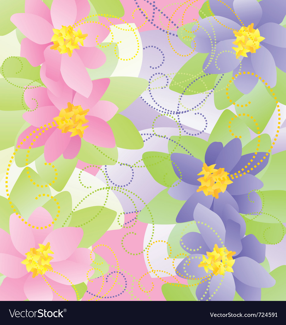 Pastel flowers vector | Price: 1 Credit (USD $1)