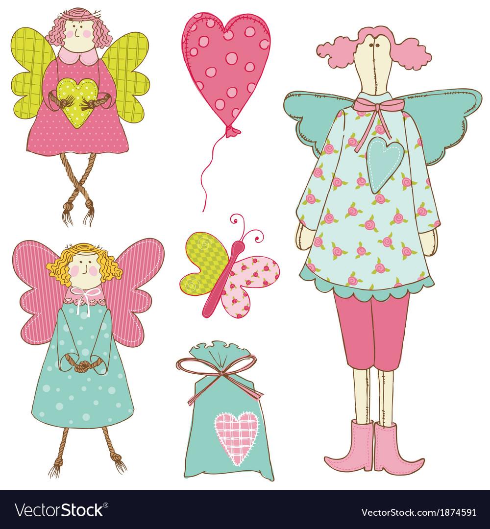 Scrapbook design elements - baby doll set vector | Price: 1 Credit (USD $1)