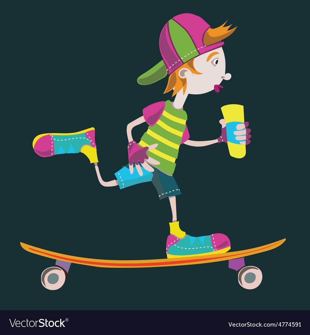 Skater 01 vector | Price: 1 Credit (USD $1)