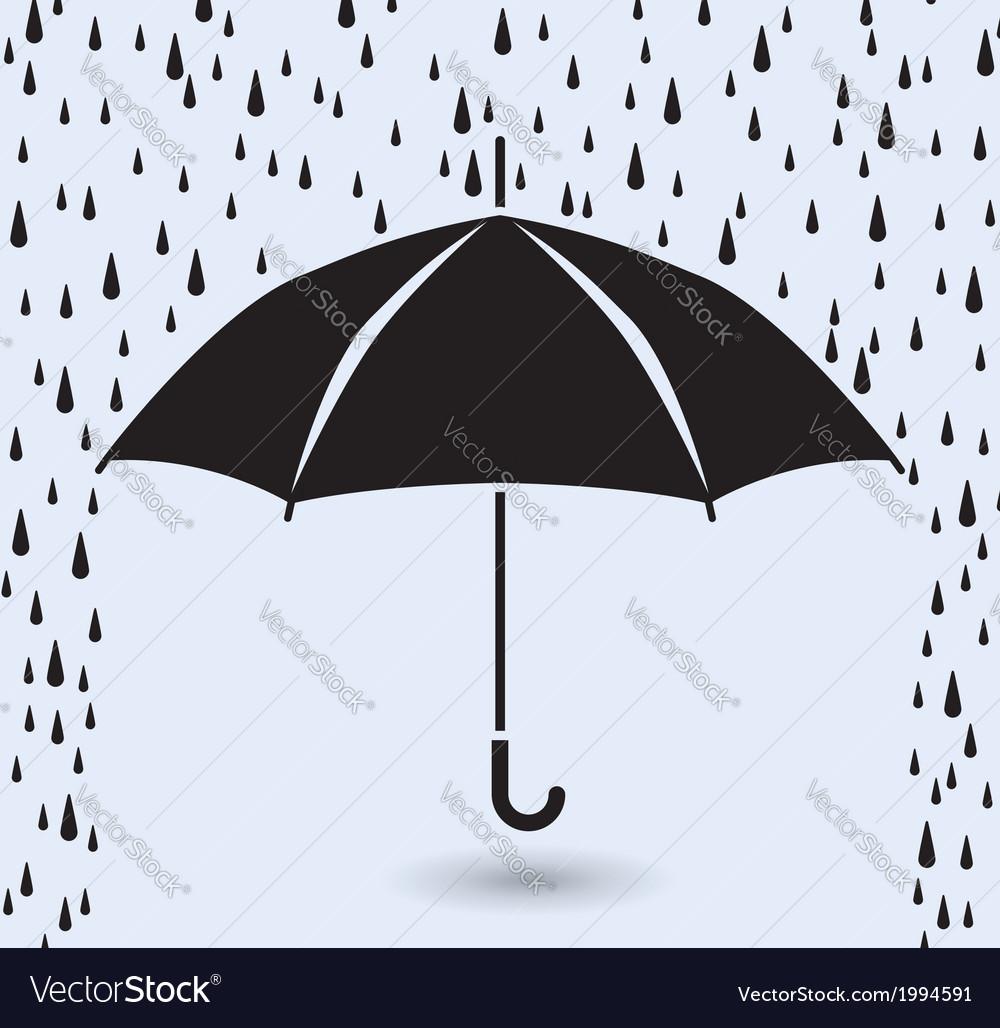 Umbrella protection from rain vector | Price: 1 Credit (USD $1)