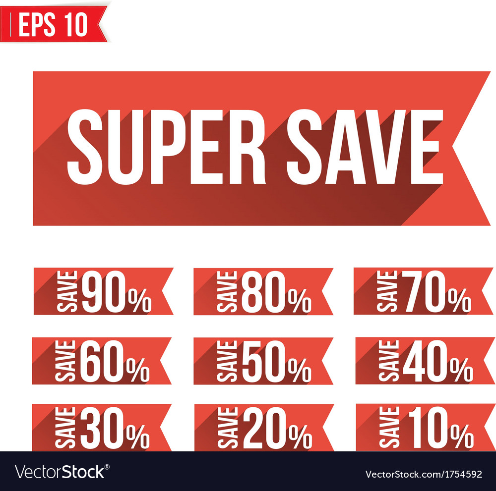 Discount tag flat and long shadow design - - vector | Price: 1 Credit (USD $1)