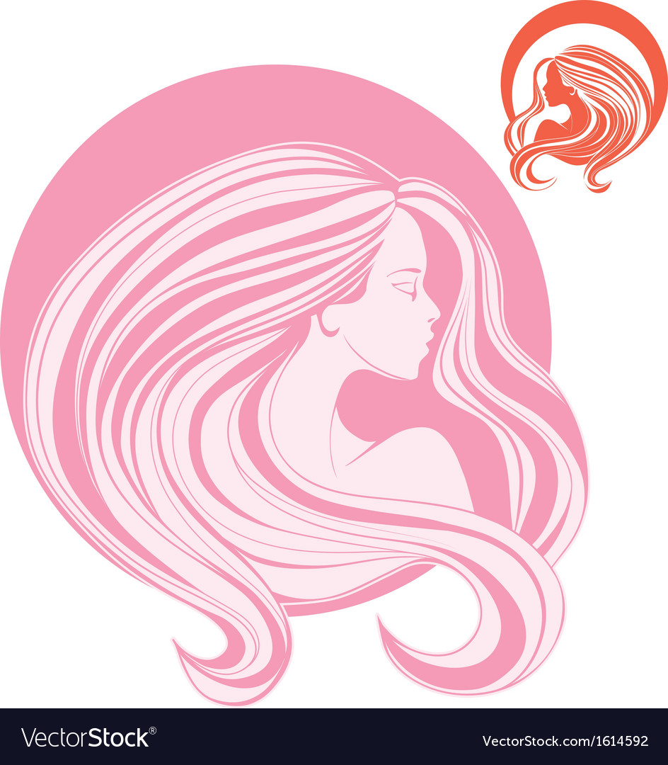 Minimalistic stylization of womans head in side vector | Price: 1 Credit (USD $1)