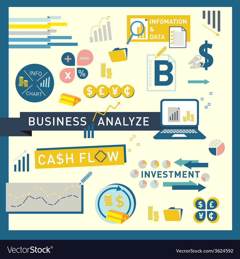 Money finance business analyze icon design vector | Price: 1 Credit (USD $1)