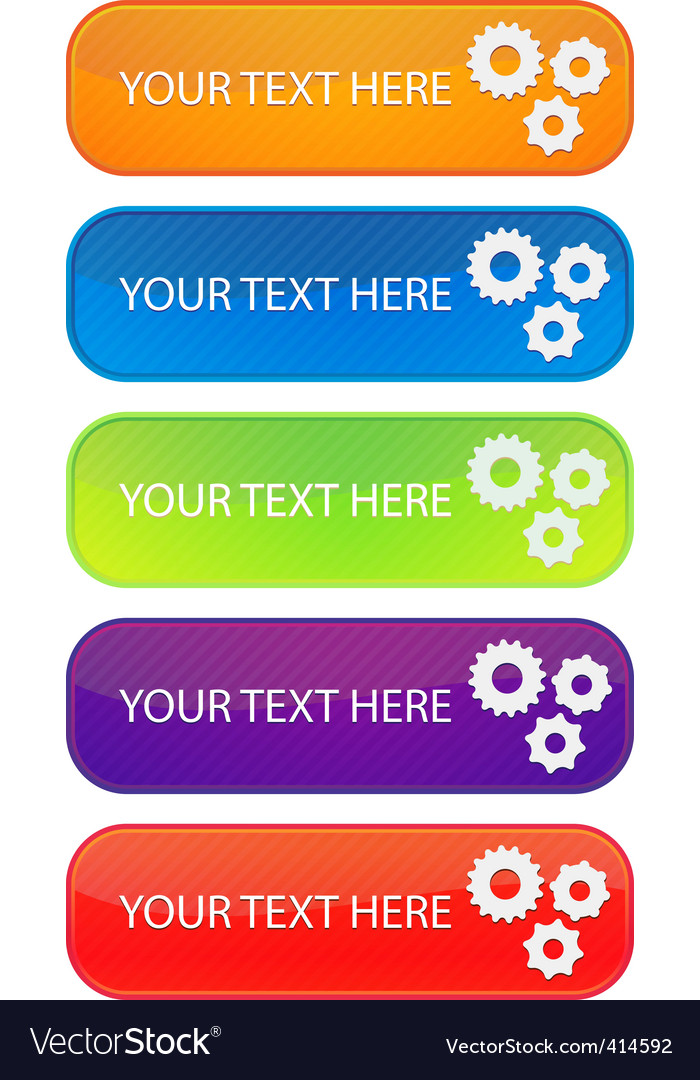 Set of 5 colorful web banners vector | Price: 1 Credit (USD $1)