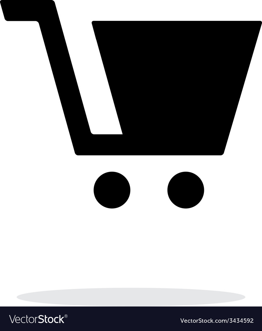 Shopping cart simple icon on white background vector | Price: 1 Credit (USD $1)