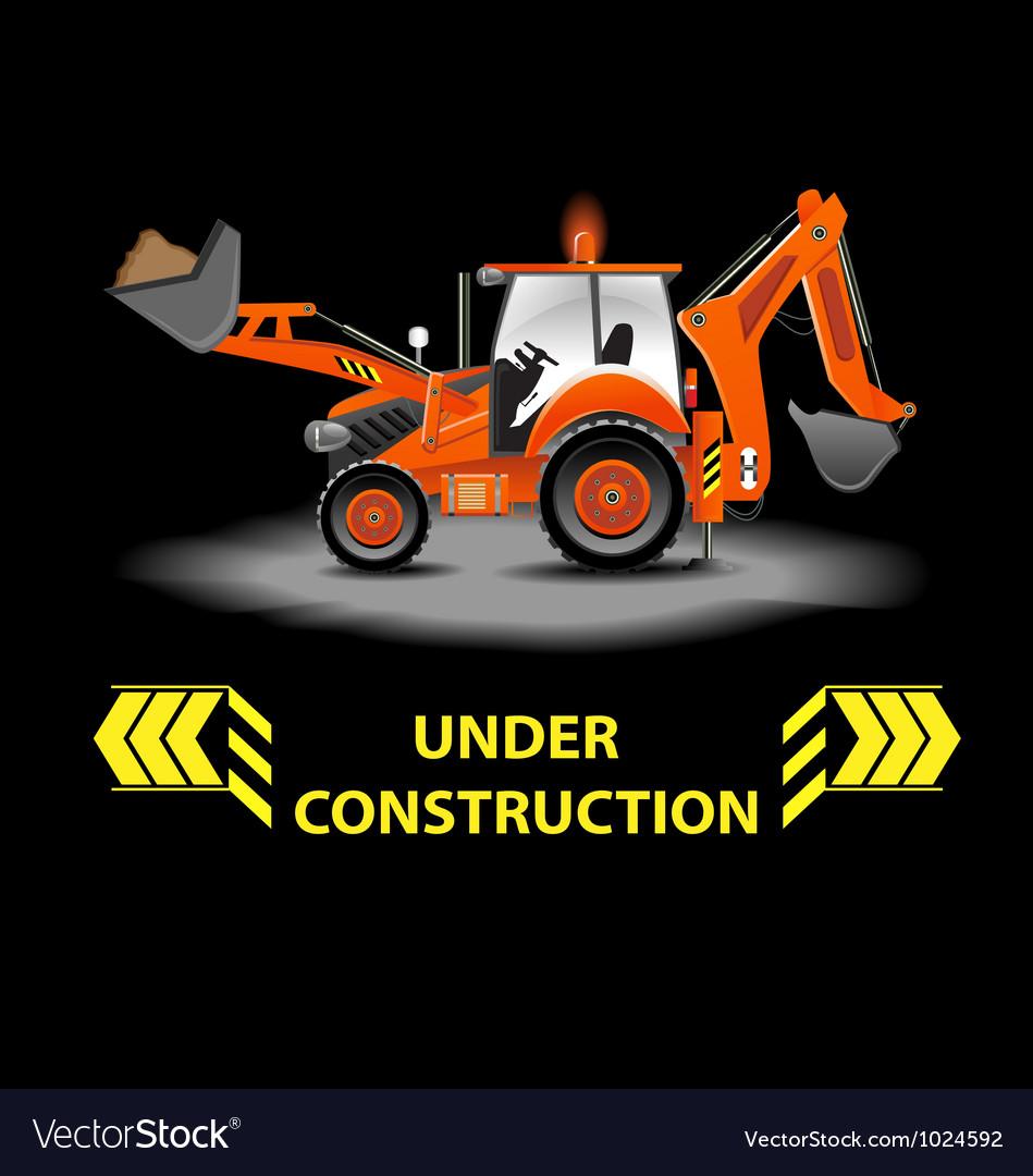 Under construction alert vector | Price: 3 Credit (USD $3)