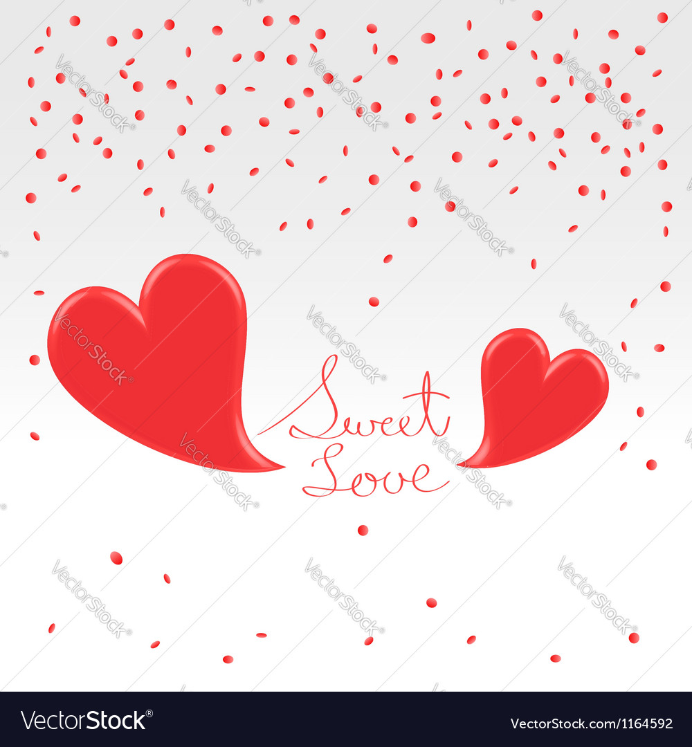 Valentines day greetings vector | Price:  Credit (USD $)