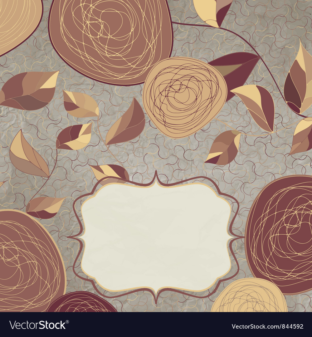 Vintage rose background vector | Price: 1 Credit (USD $1)