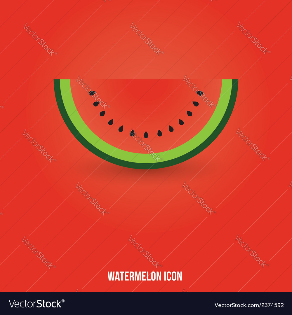 Watermelon icon vector | Price: 1 Credit (USD $1)