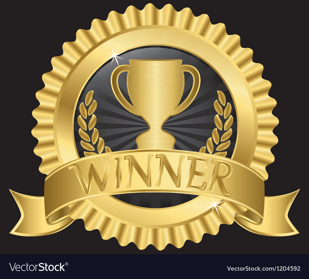 Winner gold label vector | Price: 1 Credit (USD $1)